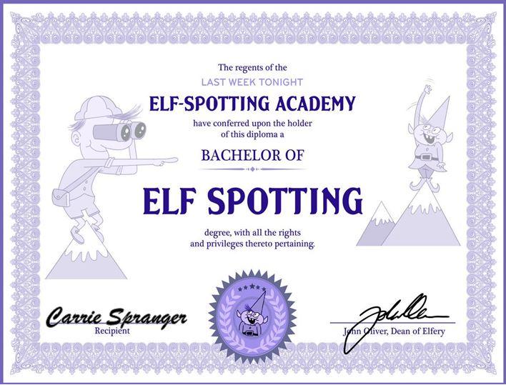 elf spotting cert