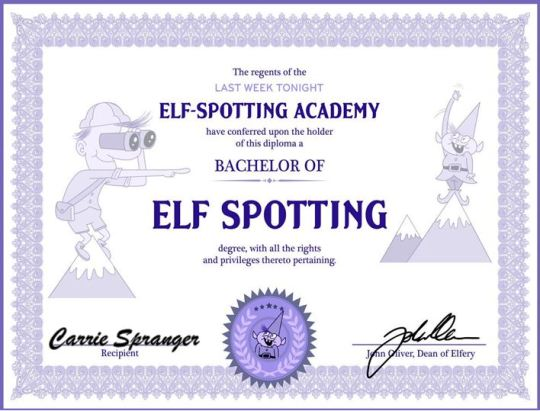 elf spotting cert