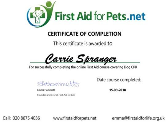 pet cpr cert